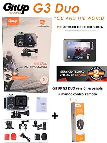 Gitup G3 Duo Pro VERSIÓN ESPAÑOLA+Mando Control Remoto!LCD 2 ...