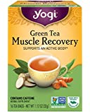 Yogi Tea, Muscle Recovery Green, 16 Count (Pack of 6), Packaging May Vary