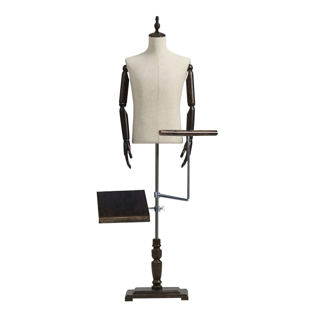 HAIPENG Male Mannequin Busts Torso Body Manikin Clothing with Pant Rack and Shoe Display Model Dummy Detachable Off White Color : A, Size : M