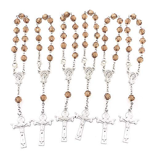 Christening Party Favors - Simplewoo Mini Rosaries Bracelets Baptism Rosary Party Favors First Communion Gifts Christening Wedding Favors Pack of 12pcs