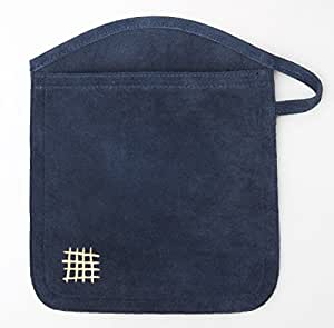 Jane Domestic Suede Dual Purpose Oven Mitt/Hot-Pad, Navy