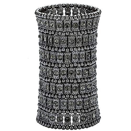 Hiddleston Multilayer 7 Row Jewelry Gothic Stretch Bracelet Sleeve Arm Cuff Rocker Wristband Heavy Metal Bobo Halloween Costume Women Accessory