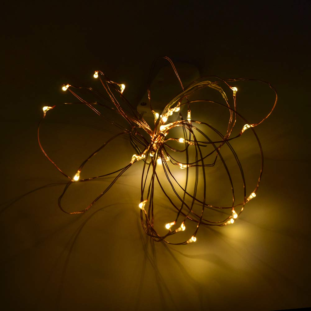 Mpoow 6PACK Fairy String Lights, 10ft 30 LEDs Fairy Lights Battery Operated,Fairy Lights,Fair Lights,Led String Lights,Led Fairy Lights,Centerpieces(Warm White)