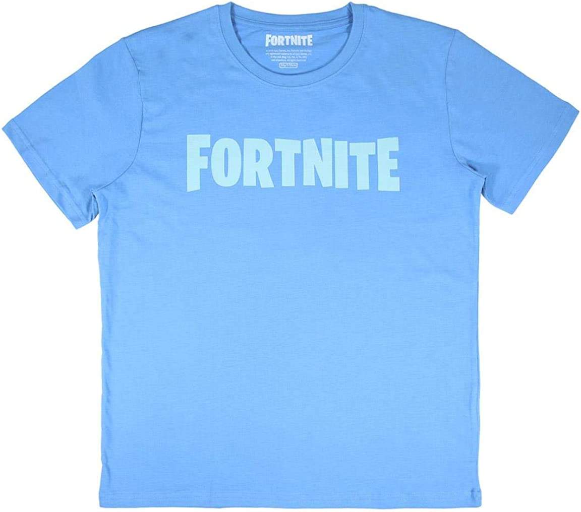 Cerdá Fortnite Casco Medieval Unisex-Camiseta de Color Blanco Hombre