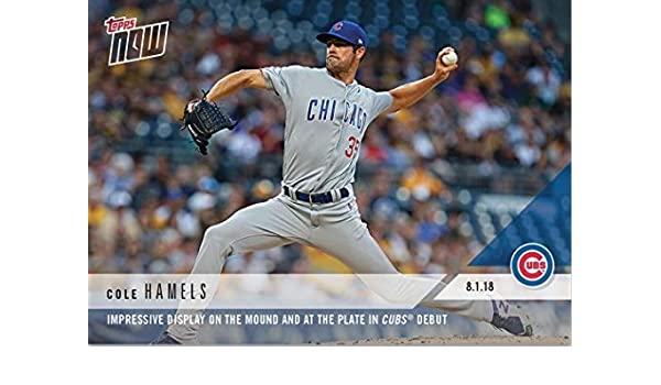check out 97c5a 250f8 Amazon.com: 2018 Topps Now #541 Cole Hamels Baseball Card ...