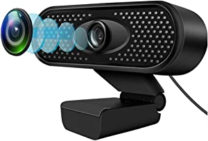 1080P Full HD Webcam with Mic,Laptop Desktop Computer Camera for Online Video Education, Portable Camera, USB PC Webcam for Video Call, Recording, Meeting, Games,Skype OBS,Mac YouTube
