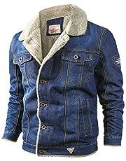 Uusollecy Men's Sherpa Jean Trucker Jacket