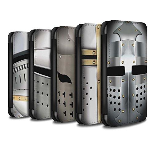 Stuff4 Coque/Etui/Housse Cuir PU Case/Cover pour Apple iPhone 8 / Pack 5pcs Design / Armure Chevalier Collection