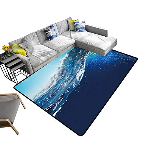 Abstract Design Area Rug oce View Seascape dscape Blue Sky Sunlight Add Fashion to Room's Decor 2' X 4'