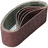 Jeteven 3-Inch X 21-Inch Sanding Belts Sandpaper Roll Abrasive Belt for Sander Tools 40 Grit 10-Pack