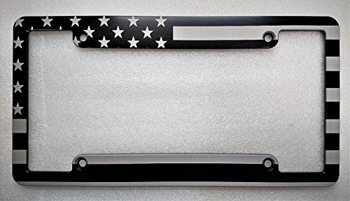 BilletVault LICENSE PLATE FRAME AMERICAN FLAG BLACK ()