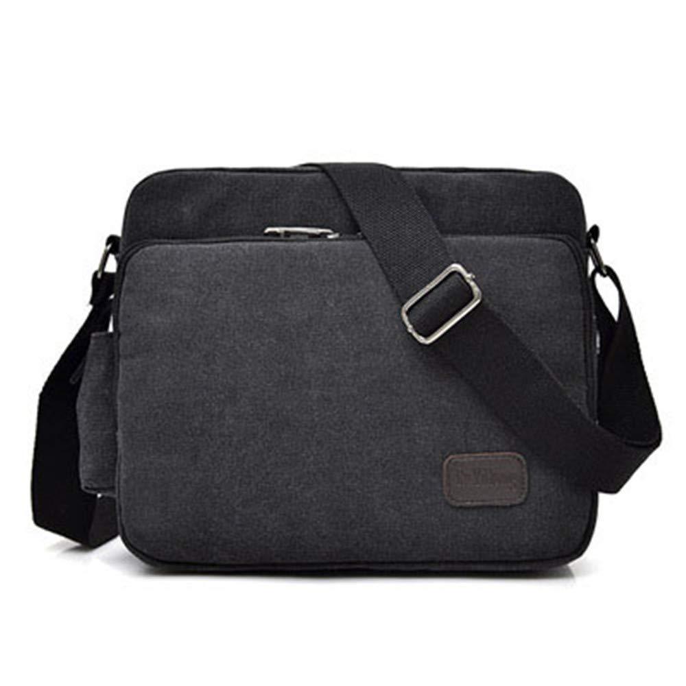 Mens Canvas Messenger Bag Travel Messenger Bag Sports Retro Casual Messenger Bag