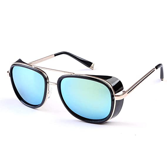 AAMOUSE Gafas de Sol Gafas de Sol Hombre Steampunk Tony ...