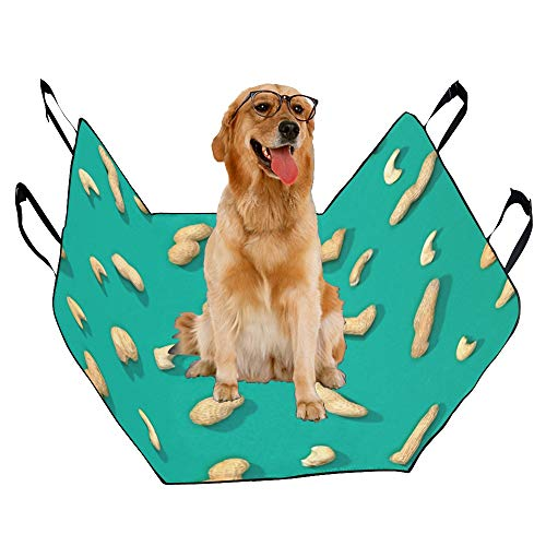 JTMOVING Fashion Oxford Pet Car Seat Cashew Snacks Hand-Painted Waterproof Nonslip Canine Pet Dog Bed Hammock Convertible for Cars Trucks SUV - Cashew Dog Bed