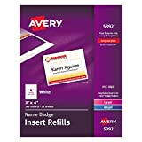 "Avery Name Badge Inserts, Print or Write, 3"" x 4"", 300 Cardstock Refills (5392)"