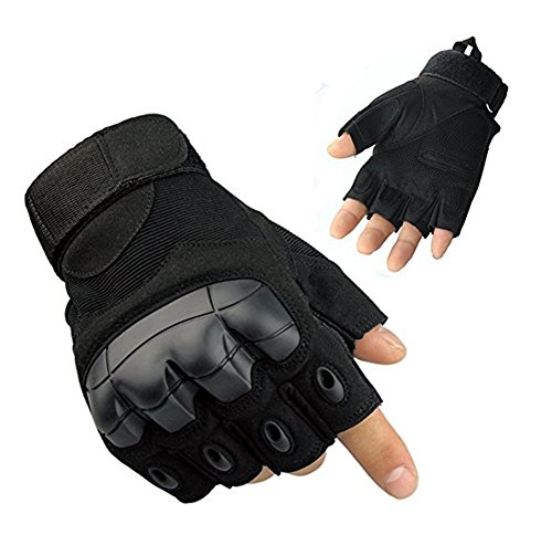 Half Finger Outdoor Gloves Fingerless Gloves for, Riding, Cycling, Motorcycle, Driving