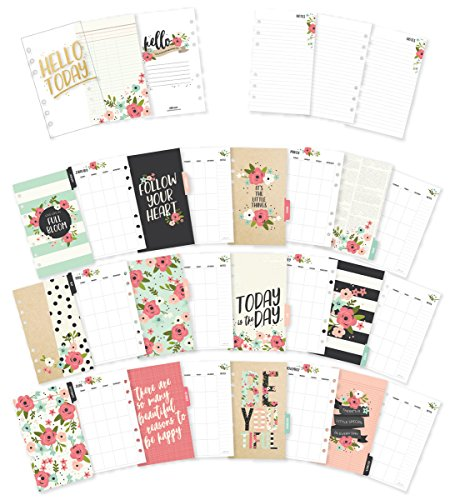 Simple Stories Carpe Diem Double-Sided Personal Planner Inserts, Multi-Color,  Length 6.75 inches x Height 0.25 inches x Width 4.0 inches