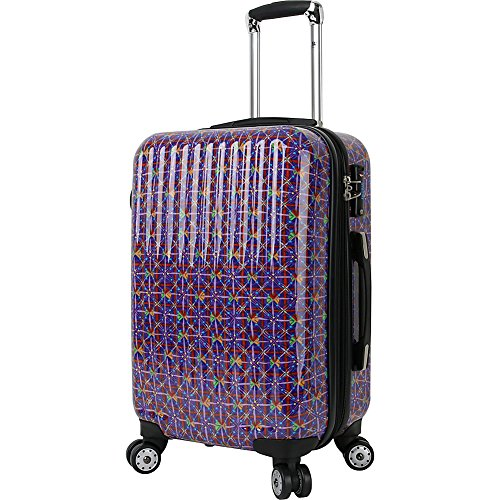 J World New York Titan 20 inch Polycarbonate Carry-on Art Luggage (Squares)