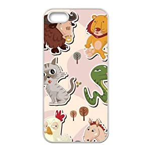 Fashion Carton cat Personalized iPhone 5 5S Rubber Silicone Case Cover by icecream design