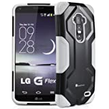 LG G Flex Case, GreatShield FUSION Hybrid Dual Layer Shock Absorbing Snap On Rugged Case Back Cover for LG G Flex - (White)