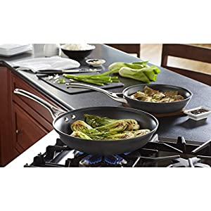 Calphalon 2 Piece Contemporary Frying Pan Set, Nonstick, Black