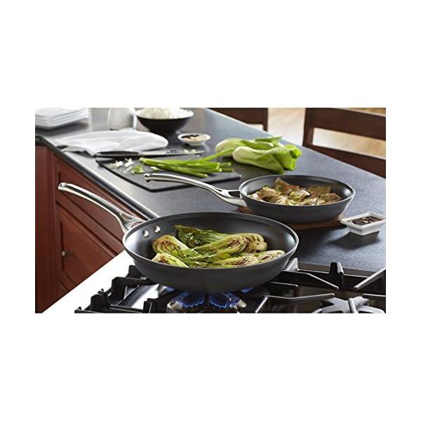 Calphalon 2 Piece Contemporary Frying Pan Set, Nonstick, Black 2