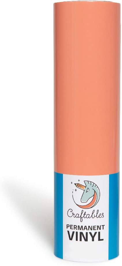 Craftables Coral Vinyl Roll - Permanent, Adhesive, Glossy & Waterproof | 12
