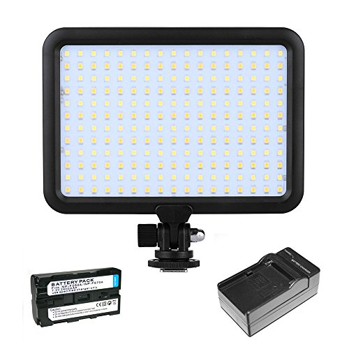 Triopo 204 LED Photography Video Studio Light Panel 3200K-5600K With Rechargeable Battery and Charger for DSLR Video Camera Camcorder (Canon, Nikon, Panasonic, Sony, Samsung, Olympus) by PBL