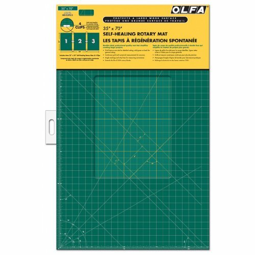 Olfa Gridded Cutting Mat Set-35''X70'' Clipped by OLFA