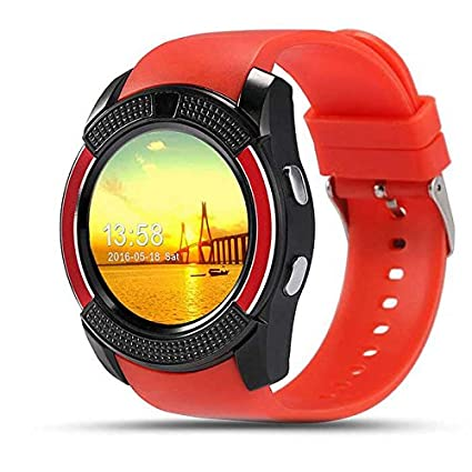 SMARTWATCH V8/IOS/ANDROID (Rojo): Amazon.es: Relojes