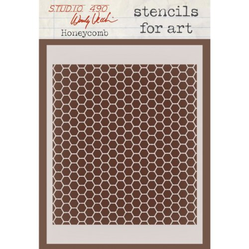 Stampers Anonymous Wendy Vecchi Studio Stencil Collection, 6.5-Inch by 4.5-Inch, Honeycomb ()