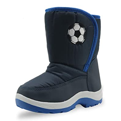 43462c9ca4881 snofiy スノーブーツ ジュニア 男の子 ブーツ キッズ 雪靴 中綿入り 保温 防水 スキー 雪遊び
