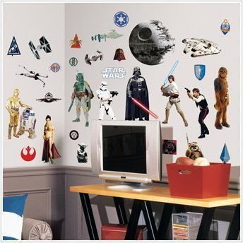 STAR WARS Classic 31 Wall Sticker Yoda R2D2 Darth Vader Room Decor Graphic Decal