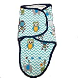 Baby : Swaddle Blanket, Swaddle Wrap BUY 2 FOR $22 Small to Medium 7-14 lbs. Adjustable Infant Baby Wrap Set by Banana Baby Soft Cotton Amazon Chevron Owl Blue Zigzag Design