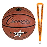 Champion Sports Composite Basketballs Orange Bundle with 1 Performall Lanyard SB1020-1P