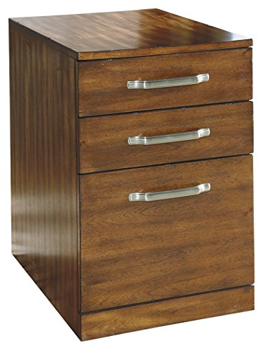 Ashley Furniture Signature Design - Lobink File Cabinet - 2 Drawers 1 File Drawer - Contemporary - Brown by Signature Design by Ashley