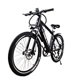 NAKTO Electric Bike Super Power Brushless Motor Electric Mountain Bicycle,Built in Removable 36V 10AH Lithium Battery Electric Bikes for Adults,with LCD Light Digital Dashboard