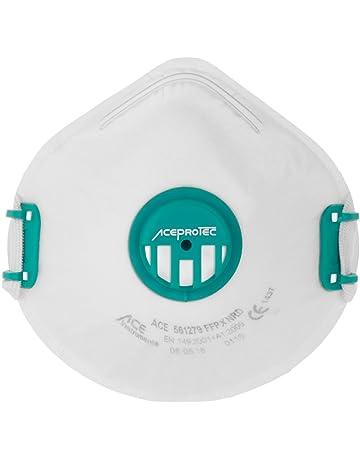 ACE PROTEC FFP3 Mascarilla Antipolvo con Válvula | 5 Piezas Mascarillas Respiratorias de Seguridad | Contra