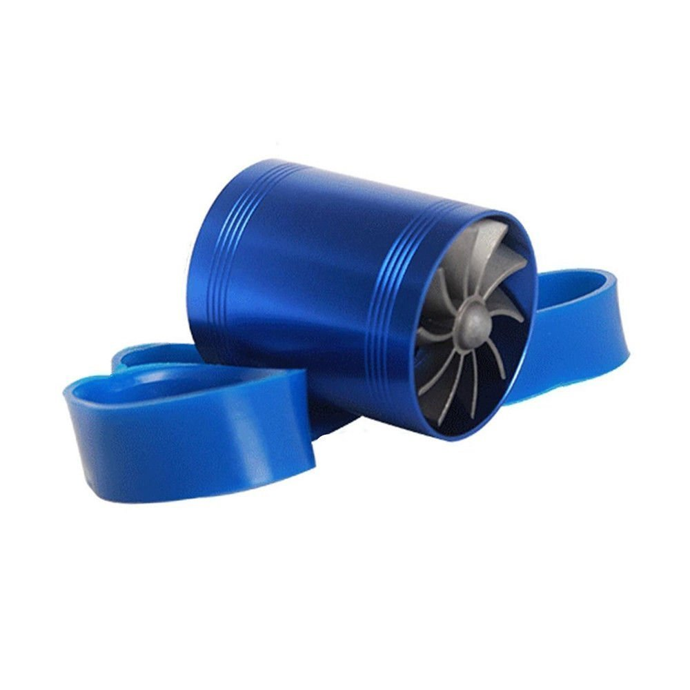 F1-Z Double Supercharger Turbine Turbo charger Air Intake Fuel Saver Fan by WOPUS (Image #1)