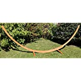 bamboo arc hammock stand for all hammocks   14 5 foot heavy duty wooden stand by hammock universe   strong solid eco friendly multi ply bamboo wood frame     amazon    bamboo   hammocks stands  u0026 accessories   patio      rh   amazon