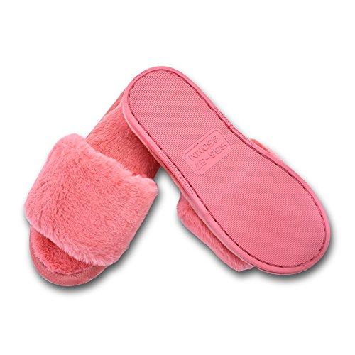 Otoño En Bonito Peluche Para Antideslizantes Zapatos Slipper Rojo Warmer invierno Mstar Bettenhaus Mujer Guantes nbsp;colores Pantuflas Algodón 4 6wq177