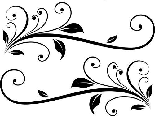 ELKS Unique Design HUGE PAIR SWIRL SCROLL HORSE FLOAT STICKER #10, Black, 6 In, Die Cut Vinyl Decal Windows, Cars, Trucks, Toolbox, Laptops, Macbook-virtually Any Hard Smooth Surface