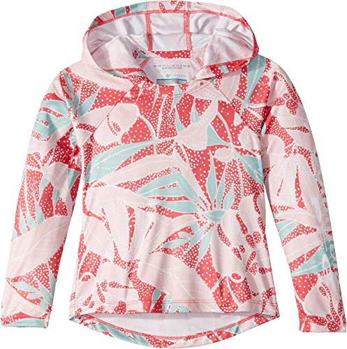 Columbia Kids Girl's Super Tidal¿ Hoodie (Little Kids/Big Kids) Wild Geranium Palms Print Small