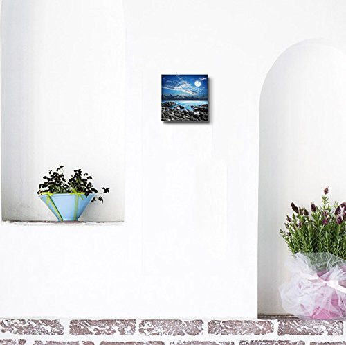 Beautiful Scenery Landscape Full Moon Over The Tropical Bay Wall Decor