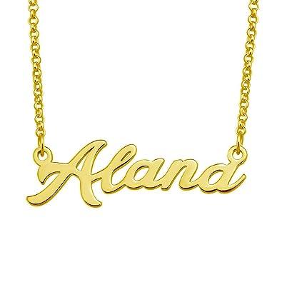 Amazon.com: LoEnMe - Collar con nombre de Alana ...