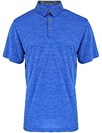 Men's Golf Polo Shirts Short Sleeve Quick Dry Athletic Slim Fit T Shirts
