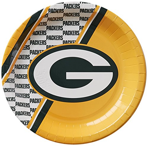 NFL Green Bay Packers Disposable Paper Plate (20-Pack)
