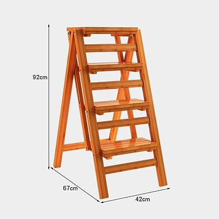 Estantes de pared MEIDUO Taburete de Escalera de 4 escalones Escalera de Escalada multifunción Escalera de Madera Taburete de Paso Plegable Espesar Instalación Gratuita Muy Durable (Color : Madera): Amazon.es: Hogar