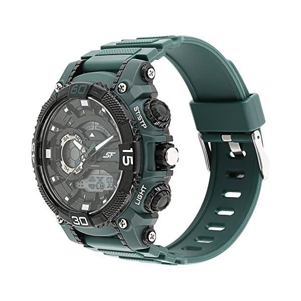 Sonata Fibre (SF) Analog-Digital Black Dial Men's Watch-NL77070PP06