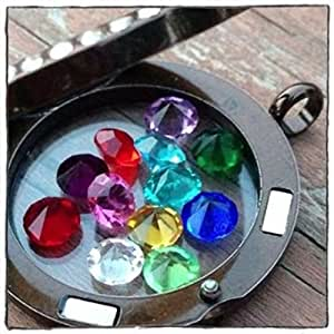 amazoncom 5mm birthstone charms complete set of 12 fits